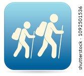 hiking icon illustration... | Shutterstock .eps vector #1092501536