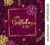 happy birthday vector...   Shutterstock .eps vector #1092502133