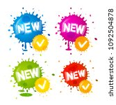 colorful splashes   new labels. ... | Shutterstock .eps vector #1092504878