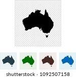 map of australia | Shutterstock .eps vector #1092507158