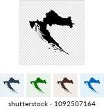 map of croatia | Shutterstock .eps vector #1092507164