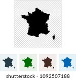 map of france | Shutterstock .eps vector #1092507188