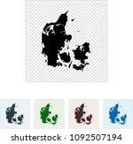 map of denmark | Shutterstock .eps vector #1092507194