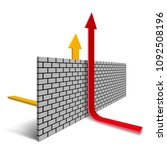 the design of obstacles the... | Shutterstock .eps vector #1092508196