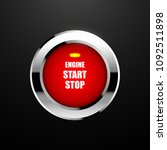 engine start button. vector... | Shutterstock .eps vector #1092511898
