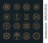 nature monogram logo  minimal... | Shutterstock .eps vector #1092513533