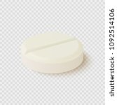 realistic medical pill isolated ... | Shutterstock .eps vector #1092514106