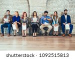 photo of candidates waiting for ... | Shutterstock . vector #1092515813