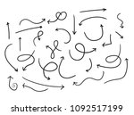 hand draw arrows | Shutterstock .eps vector #1092517199