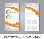 flyer template. vectical banner ... | Shutterstock .eps vector #1092518609