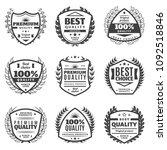 vintage monochrome advertising... | Shutterstock .eps vector #1092518846