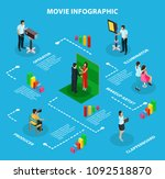 movie shooting infographic... | Shutterstock .eps vector #1092518870
