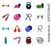 solid vector ixon set   barbell ... | Shutterstock .eps vector #1092520640