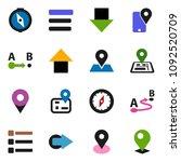 solid vector ixon set   compass ... | Shutterstock .eps vector #1092520709