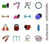 solid vector ixon set   barbell ... | Shutterstock .eps vector #1092524984