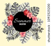 summer background with tropical ... | Shutterstock .eps vector #1092525200