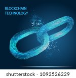 block chain. crypto currency.... | Shutterstock .eps vector #1092526229