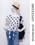 mannequin in female shirt with... | Shutterstock . vector #1092531080