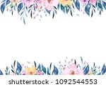 hand drawing isolated boho... | Shutterstock . vector #1092544553