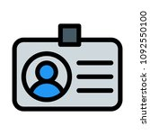 profile or identity tag | Shutterstock .eps vector #1092550100