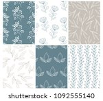 collection of beautiful vintage ... | Shutterstock .eps vector #1092555140