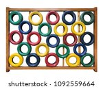colorful tire wall  can be used ... | Shutterstock . vector #1092559664