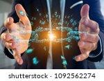 view of a weak link of a broken ... | Shutterstock . vector #1092562274