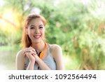 portrait charming happiness... | Shutterstock . vector #1092564494