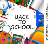 back to school . vector... | Shutterstock .eps vector #1092565613