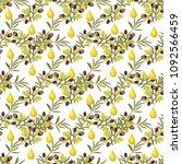 olive pattern seamless... | Shutterstock .eps vector #1092566459