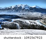 Winter day in Jasper national park