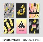 trendy abstract posters set... | Shutterstock .eps vector #1092571148
