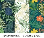 tropical background with palm... | Shutterstock .eps vector #1092571703