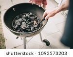 barbecue grill fire with a...   Shutterstock . vector #1092573203