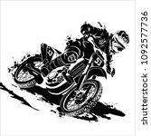 motorcross silhouette vector | Shutterstock .eps vector #1092577736
