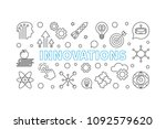 innovations vector horizontal... | Shutterstock .eps vector #1092579620