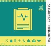 electrocardiogram symbol icon   Shutterstock .eps vector #1092584510