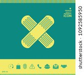 cross adhesive bandage  medical ... | Shutterstock .eps vector #1092585950