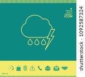 cloud thunderstorm lightning... | Shutterstock .eps vector #1092587324
