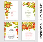 wedding or other invitation... | Shutterstock .eps vector #1092589139