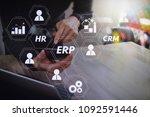 architecture of erp  enterprise ... | Shutterstock . vector #1092591446