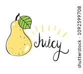 pear. vector illustration with... | Shutterstock .eps vector #1092599708