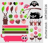 cute scrapbook elements set | Shutterstock .eps vector #109260116