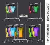 realistic 3d vector...   Shutterstock .eps vector #1092601280