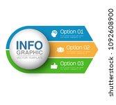 vector infographic template for ... | Shutterstock .eps vector #1092608900