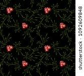 little floral seamless pattern... | Shutterstock .eps vector #1092609848