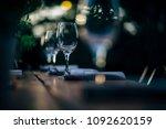 luxury table settings for fine... | Shutterstock . vector #1092620159