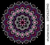 mandala dot painting vector... | Shutterstock .eps vector #1092622940