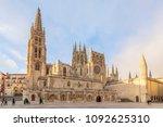 Burgos, Spain; 01 14 2017: The Cathedral Santa Maria de Burgos, is the maximum exponent of Gothic in Spain
