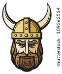 viking head  mascot cartoon... | Shutterstock .eps vector #109262534